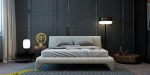 طراحی دیوار پشت تخت خواب