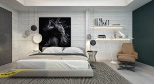 استفاده از تابلو روی دیوار پشت تخت